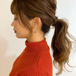 ナチュラル ヘアアレンジ 簡単ヘアアレンジ ローポニーテール ヘアスタイルや髪型の写真・画像 ヘアスタイルや髪型の写真・画像