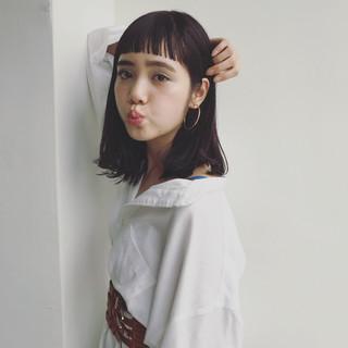 アンニュイ 大人かわいい ゆるふわ ミディアム ヘアスタイルや髪型の写真・画像