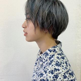 ハンサムショート モード ショートヘア ショートボブ ヘアスタイルや髪型の写真・画像
