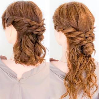 ショート ロング 簡単ヘアアレンジ エレガント ヘアスタイルや髪型の写真・画像