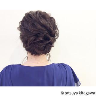 結婚式 セミロング 外国人風 ゆるふわ ヘアスタイルや髪型の写真・画像