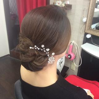 ヘアアレンジ ロング 結婚式ヘアアレンジ エレガント ヘアスタイルや髪型の写真・画像