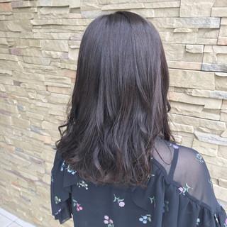 デート オフィス ミディアム 透明感 ヘアスタイルや髪型の写真・画像