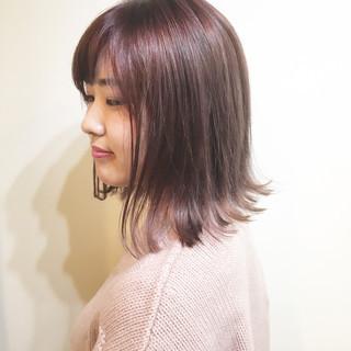 透明感 ハイトーン インナーカラー ナチュラル ヘアスタイルや髪型の写真・画像