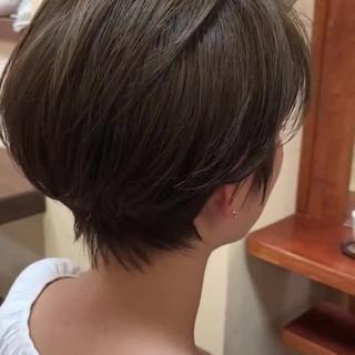 マッシュショート フェミニン デート ショートヘア ヘアスタイルや髪型の写真・画像