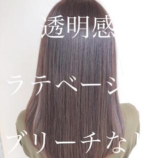 透明感カラー アッシュベージュ 外国人風カラー ロング ヘアスタイルや髪型の写真・画像