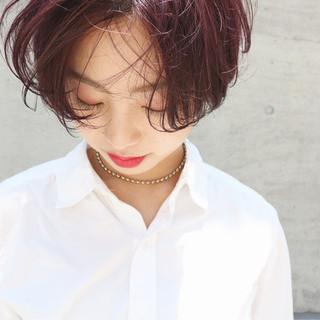 透明感カラー ピンクパープル 外国人風カラー ナチュラル ヘアスタイルや髪型の写真・画像
