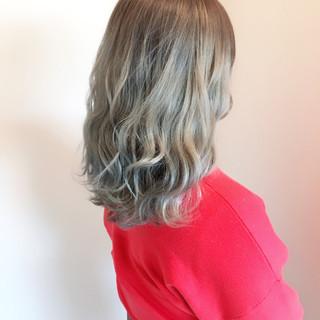 透明感 外国人風カラー フェミニン ミディアム ヘアスタイルや髪型の写真・画像