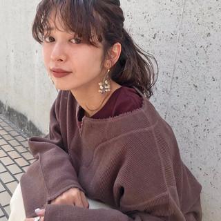 デート セミロング ラズベリーピンク 外国人風カラー ヘアスタイルや髪型の写真・画像