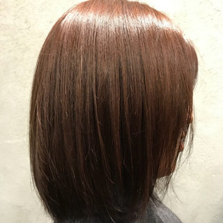 ピンク ナチュラル ボブ 春 ヘアスタイルや髪型の写真・画像 ヘアスタイルや髪型の写真・画像