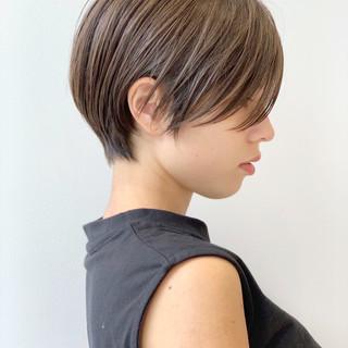 オフィス ショート デート アウトドア ヘアスタイルや髪型の写真・画像