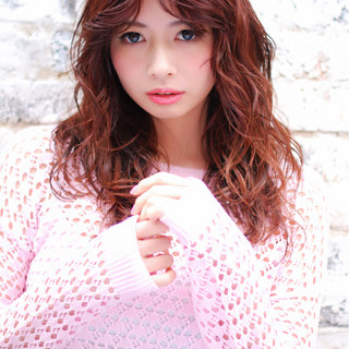 ゆるふわ ガーリー フェミニン ピンク ヘアスタイルや髪型の写真・画像