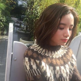 大人女子 N.オイル ボブ 外国人風 ヘアスタイルや髪型の写真・画像