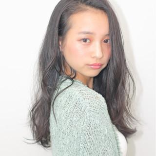 艶髪 ナチュラル 黒髪 ピュア ヘアスタイルや髪型の写真・画像