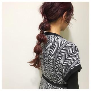 ヘアアレンジ ガーリー デート セミロング ヘアスタイルや髪型の写真・画像