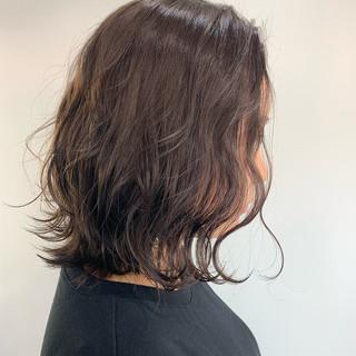 透明感カラー ボブ ナチュラル ラベンダーグレージュ ヘアスタイルや髪型の写真・画像