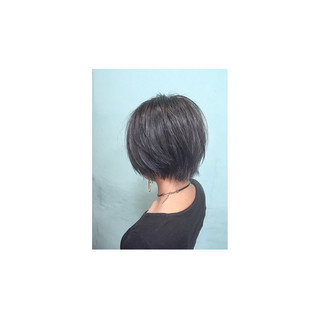 モード 暗髪 色気 アッシュ ヘアスタイルや髪型の写真・画像