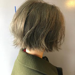 透明感 外ハネ ボブ 切りっぱなし ヘアスタイルや髪型の写真・画像