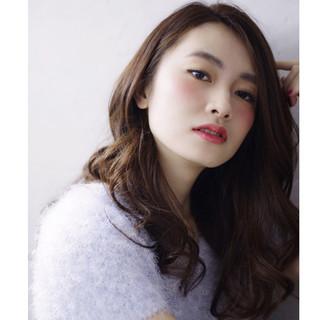 外国人風 大人かわいい ゆるふわ ブラウン ヘアスタイルや髪型の写真・画像