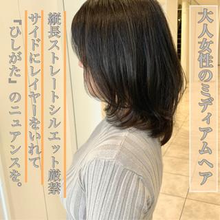 大人ヘアスタイル アッシュグレージュ 透明感カラー 髪質改善トリートメント ヘアスタイルや髪型の写真・画像