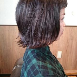 ボブ 外国人風 アッシュ フリンジバング ヘアスタイルや髪型の写真・画像