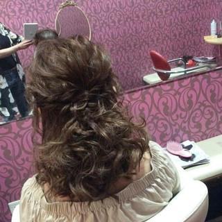 結婚式 編み込み ヘアアレンジ 上品 ヘアスタイルや髪型の写真・画像