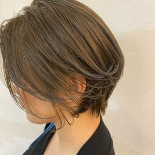 大人かわいい ショートヘア ハンサムショート ショート ヘアスタイルや髪型の写真・画像