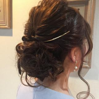 結婚式 ねじり 簡単ヘアアレンジ ショート ヘアスタイルや髪型の写真・画像