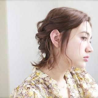 ハーフアップ ショート 外国人風 簡単ヘアアレンジ ヘアスタイルや髪型の写真・画像