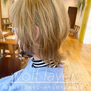 レイヤースタイル ストリート ウルフカット ウルフ ヘアスタイルや髪型の写真・画像