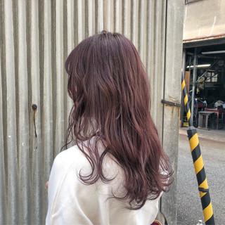 ウェーブ デート ピンク ガーリー ヘアスタイルや髪型の写真・画像 ヘアスタイルや髪型の写真・画像