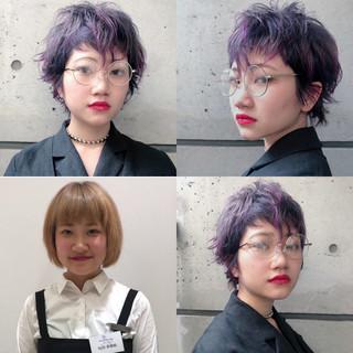 ショートヘア ベリーショート ショート ウルフカット ヘアスタイルや髪型の写真・画像