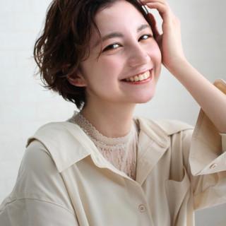 ショート パーマ 大人かわいい ショートヘア ヘアスタイルや髪型の写真・画像