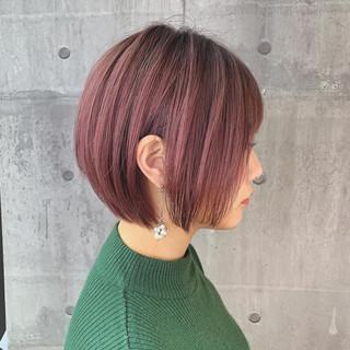 イルミナカラー 簡単ヘアアレンジ ヘアカラー ショート ヘアスタイルや髪型の写真・画像 ヘアスタイルや髪型の写真・画像