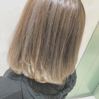 外国人風カラー バレイヤージュ ボブ グラデーションカラー ヘアスタイルや髪型の写真・画像