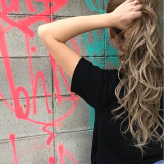 ロング ストリート エクステ ヘアスタイルや髪型の写真・画像