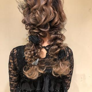 デート ヘアアレンジ ロング 結婚式 ヘアスタイルや髪型の写真・画像
