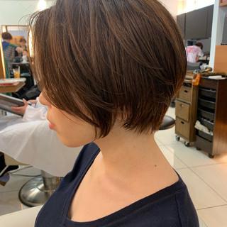 ふんわり ショートヘア 大人可愛い ショート ヘアスタイルや髪型の写真・画像