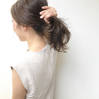色気 夏 涼しげ リラックス ヘアスタイルや髪型の写真・画像
