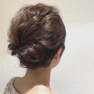 ショートヘア 結婚式ヘアアレンジ ナチュラル ショート ヘアスタイルや髪型の写真・画像