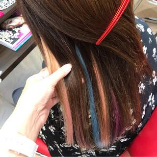 ガーリー ヘアアレンジ 涼しげ ロング ヘアスタイルや髪型の写真・画像