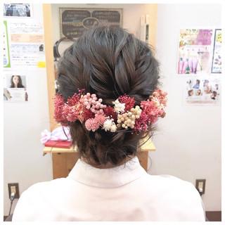 ヘアアレンジ 成人式 フェミニン 簡単ヘアアレンジ ヘアスタイルや髪型の写真・画像 ヘアスタイルや髪型の写真・画像