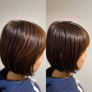 ミニボブ ショートヘア ボブ ベリーショート ヘアスタイルや髪型の写真・画像