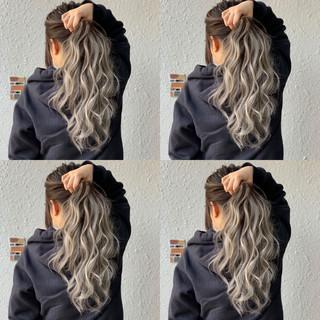 ヘアアレンジ エクステ 外国人風カラー グラデーションカラー ヘアスタイルや髪型の写真・画像