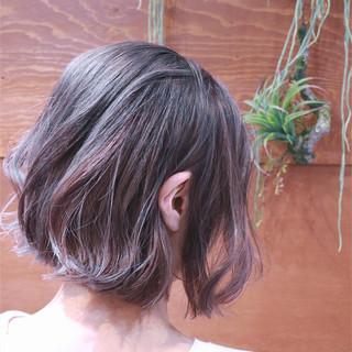 ハイライト グラデーションカラー ボブ バレイヤージュ ヘアスタイルや髪型の写真・画像 ヘアスタイルや髪型の写真・画像