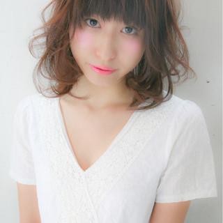暗髪 前髪あり ガーリー 大人かわいい ヘアスタイルや髪型の写真・画像