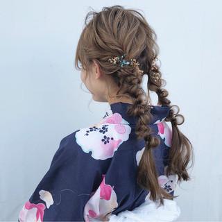 ツインテール デート ヘアアレンジ 成人式 ヘアスタイルや髪型の写真・画像 ヘアスタイルや髪型の写真・画像