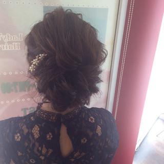 エレガント ヘアアレンジ 結婚式 編み込みヘア ヘアスタイルや髪型の写真・画像 ヘアスタイルや髪型の写真・画像