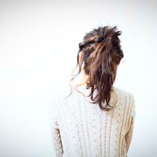 セミロング ショート ヘアアレンジ くるりんぱ ヘアスタイルや髪型の写真・画像 ヘアスタイルや髪型の写真・画像