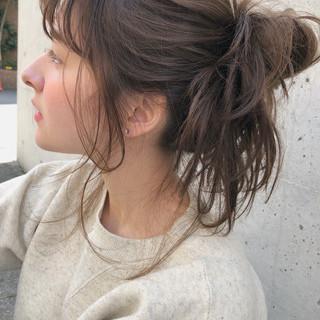 デート スポーツ ガーリー ヘアアレンジ ヘアスタイルや髪型の写真・画像
